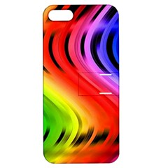 Colorful Vertical Lines Apple Iphone 5 Hardshell Case With Stand