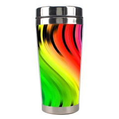 Colorful Vertical Lines Stainless Steel Travel Tumblers by BangZart