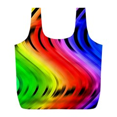 Colorful Vertical Lines Full Print Recycle Bags (l)  by BangZart