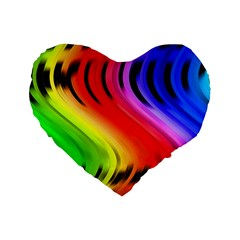 Colorful Vertical Lines Standard 16  Premium Flano Heart Shape Cushions by BangZart