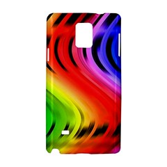 Colorful Vertical Lines Samsung Galaxy Note 4 Hardshell Case by BangZart