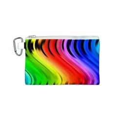 Colorful Vertical Lines Canvas Cosmetic Bag (s) by BangZart