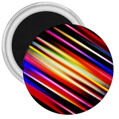 Funky Color Lines 3  Magnets by BangZart