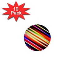 Funky Color Lines 1  Mini Buttons (10 Pack)