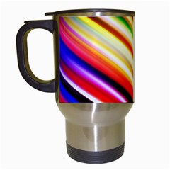 Funky Color Lines Travel Mugs (white) by BangZart