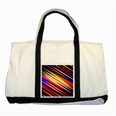 Funky Color Lines Two Tone Tote Bag by BangZart