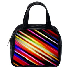 Funky Color Lines Classic Handbags (One Side)