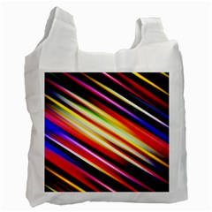 Funky Color Lines Recycle Bag (two Side)  by BangZart