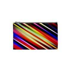 Funky Color Lines Cosmetic Bag (small)  by BangZart