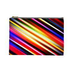 Funky Color Lines Cosmetic Bag (large)  by BangZart