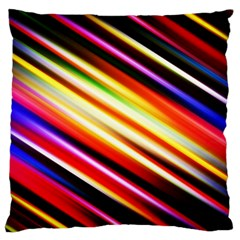 Funky Color Lines Large Cushion Case (two Sides) by BangZart