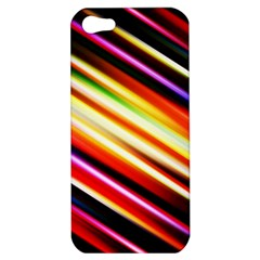 Funky Color Lines Apple Iphone 5 Hardshell Case by BangZart