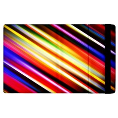 Funky Color Lines Apple Ipad 3/4 Flip Case by BangZart