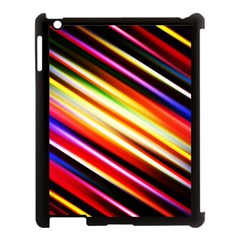 Funky Color Lines Apple Ipad 3/4 Case (black)