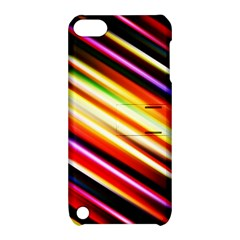 Funky Color Lines Apple Ipod Touch 5 Hardshell Case With Stand by BangZart