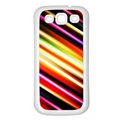 Funky Color Lines Samsung Galaxy S3 Back Case (white)