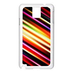 Funky Color Lines Samsung Galaxy Note 3 N9005 Case (white)
