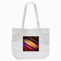 Funky Color Lines Tote Bag (white)