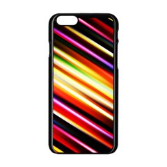 Funky Color Lines Apple Iphone 6/6s Black Enamel Case