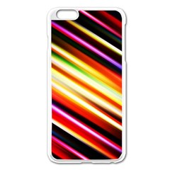 Funky Color Lines Apple Iphone 6 Plus/6s Plus Enamel White Case