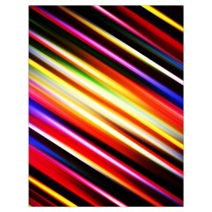 Funky Color Lines Drawstring Bag (large) by BangZart