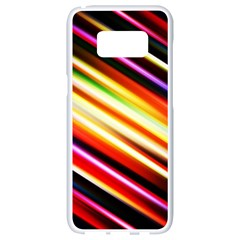 Funky Color Lines Samsung Galaxy S8 White Seamless Case
