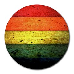 Five Wall Colour Round Mousepads