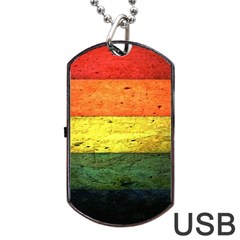 Five Wall Colour Dog Tag Usb Flash (two Sides)