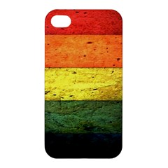 Five Wall Colour Apple Iphone 4/4s Premium Hardshell Case by BangZart