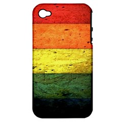 Five Wall Colour Apple Iphone 4/4s Hardshell Case (pc+silicone) by BangZart