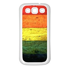 Five Wall Colour Samsung Galaxy S3 Back Case (white) by BangZart