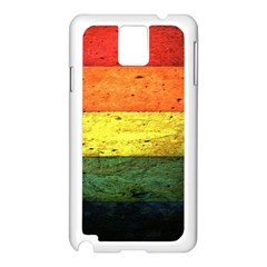 Five Wall Colour Samsung Galaxy Note 3 N9005 Case (white) by BangZart