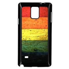 Five Wall Colour Samsung Galaxy Note 4 Case (black) by BangZart