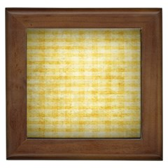 Spring Yellow Gingham Framed Tiles by BangZart