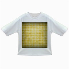 Spring Yellow Gingham Infant/toddler T Shirts by BangZart