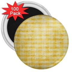 Spring Yellow Gingham 3  Magnets (100 Pack) by BangZart