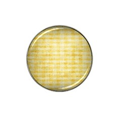 Spring Yellow Gingham Hat Clip Ball Marker (4 Pack) by BangZart