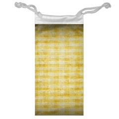 Spring Yellow Gingham Jewelry Bag