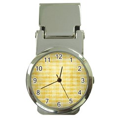 Spring Yellow Gingham Money Clip Watches by BangZart