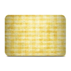 Spring Yellow Gingham Plate Mats by BangZart