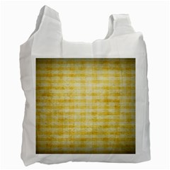 Spring Yellow Gingham Recycle Bag (one Side)