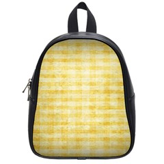 Spring Yellow Gingham School Bags (small)  by BangZart