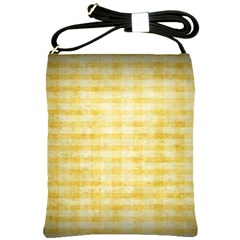 Spring Yellow Gingham Shoulder Sling Bags by BangZart