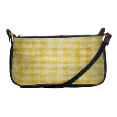 Spring Yellow Gingham Shoulder Clutch Bags by BangZart