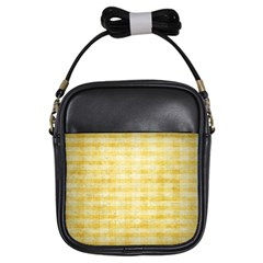 Spring Yellow Gingham Girls Sling Bags