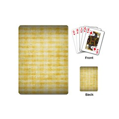 Spring Yellow Gingham Playing Cards (mini)