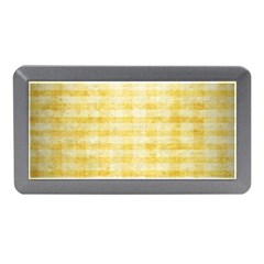 Spring Yellow Gingham Memory Card Reader (mini)