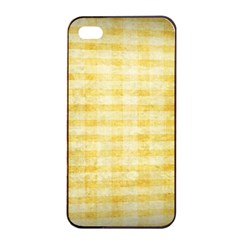 Spring Yellow Gingham Apple Iphone 4/4s Seamless Case (black) by BangZart