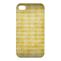 Spring Yellow Gingham Apple Iphone 4/4s Hardshell Case by BangZart