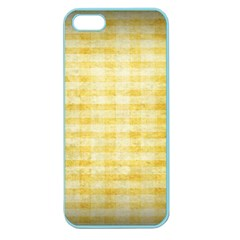Spring Yellow Gingham Apple Seamless Iphone 5 Case (color) by BangZart